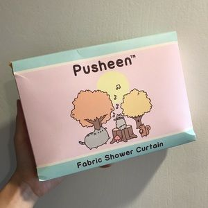New Pusheen shower curtain (large)